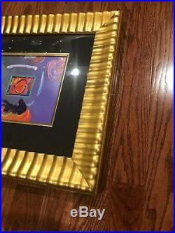 PETER MAX HEART SERIES 2013 VERSION 1 MIXEDMEDIA Original Acrylic Painting $2400