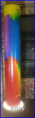 PETER MAX Mixed Media HUGE Acrylic on Sonotube Sculpture Painting (1988, Orig.)