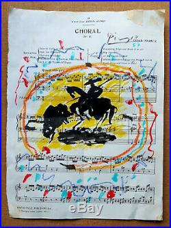 Pablo Picasso Original art La Corrida Musical 57 Bullfight Painting MAKE OFFER