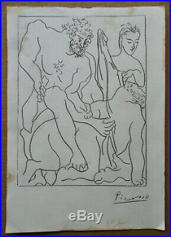 Pablo Picasso Original art Rare Vollard Suite 1936 Sketch Invest MAKE OFFER
