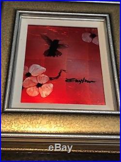 Patrick Guyton Mini Bird Series Red Art Professional COA Appraisal