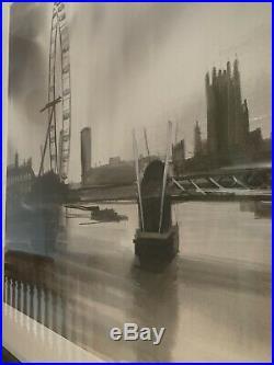 Paul Kenton Original Painting Mixed Media Black & White Eye Of The Storm London