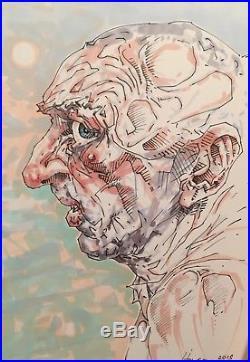 Peter Howson Original Drawing