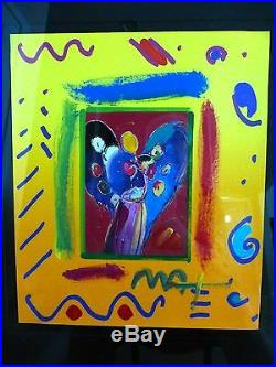 Peter MAX, Angel with Heart CollageVer. II
