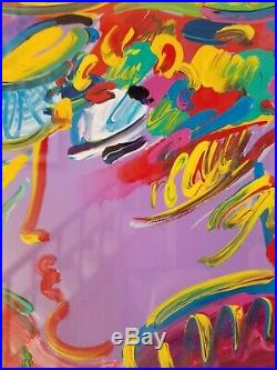 Peter Max Acrylic Painting Signed Original NOT a Mixed Media 1 of a kind Unique