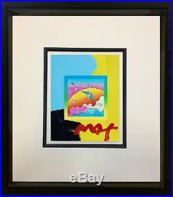 Peter Max, Angel Clouds on Blends #396 (Framed Original Painting)