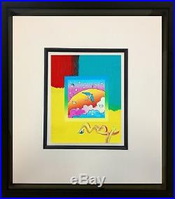Peter Max, Angel Clouds on Blends #403 (Framed Original Painting)