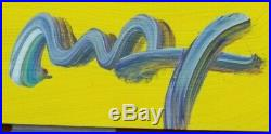 Peter Max Art Acrylic Painting Mixed Media on Paper Original Unique Hand Signed