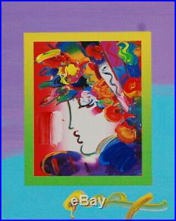 Peter Max, Blushing Beauty on Blends 2007 #2239 (Framed Original Painting)