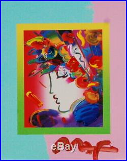Peter Max, Blushing Beauty on Blends 2007 #2252 (Framed Original Painting)