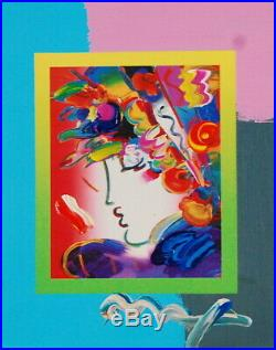 Peter Max, Blushing Beauty on Blends 2007 #2260 (Framed Original Painting)
