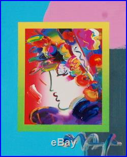 Peter Max, Blushing Beauty on Blends 2007 #2263 (Framed Original Painting)