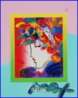 Peter Max, Blushing Beauty on Blends 2007 #2268 (Framed Original Painting)