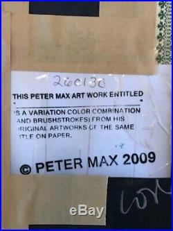 Peter Max Blushing Beauty (overpaint) 2009 Unique Mixed Media Original