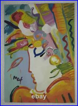Peter Max Drawing on Paper Signed & stamped Mixed Media