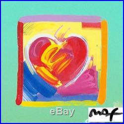 Peter Max Heart Series ORIGINAL Acrylic Mixed Media