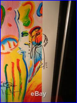 Peter Max LE Signed & Numbered Serigraph Angel With Heart With Doodles Framed
