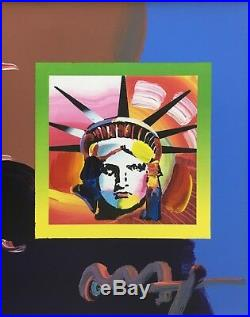 Peter Max, Liberty Head II on Blends 2007 (Framed Original Painting)