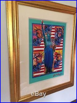 Peter Max Mixed Media Acrylic Painting HAND Painted Statue of Liberty