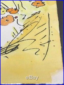 Peter Max Mixed Media on Paper Blushing Beauty Original Signed COA