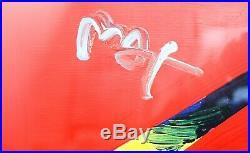 Peter Max Original Mixed Media Delta (Liberty) 2006 #1 COA From Max Studio