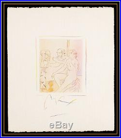 Peter Max Original Mixed Media Painting Homage To Pablo Picasso Signed Pop Art