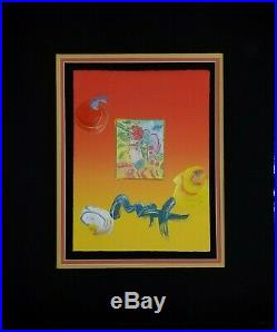 Peter Max Original Mixed Media With Acrylic On Paper, Beauty, Hand Signed