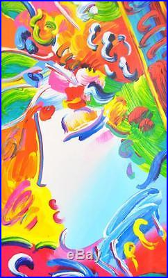 Peter Max Seriolithograph Blushing Beauty Signed in Pencil #242/350