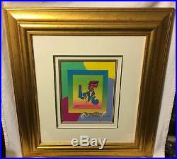 Peter Max Signed Painting, Original Litho, Mixed Media, Pop Art, Summer of Love