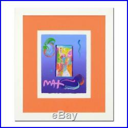 Peter Max, Statue of Liberty Signed and Framed Mixed Media with COA