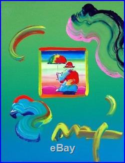 Peter Max, Umbrella Man Ver I #76 (Framed Original Painting)