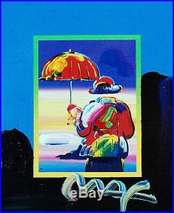 Peter Max, Umbrella Man on Blends 2007 #2984 (Framed Original Painting)