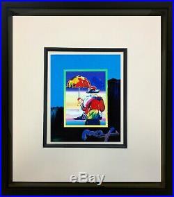 Peter Max, Umbrella Man on Blends 2007 #2986 (Framed Original Painting)