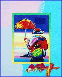 Peter Max, Umbrella Man on Blends 2007 #3015 (Framed Original Painting)