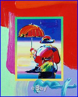 Peter Max, Umbrella Man on Blends 2007 #3281 (Framed Original Painting)