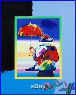 Peter Max, Umbrella Man on Blends #2982 (Framed Original Painting)