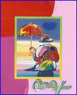 Peter Max, Umbrella Man on Blends #3003 (Framed Original Painting)