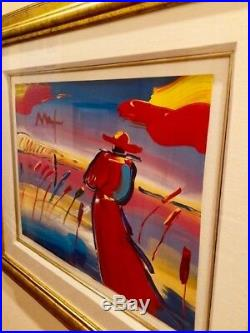 Peter Max Walking in Reeds SIGNED Original Acrylic mixed media-2019 Appraisal