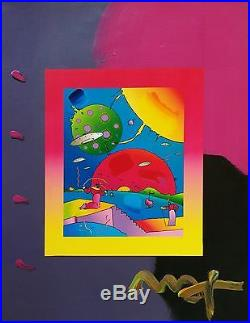 Peter Max Year Of 2250 (overpaint) 2006 Unique Mixed Media 19x15 Gallart