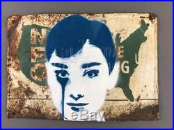 Pure Evil Audrey Hepburn urban street art graffiti banksy Brainwash Warhol Kaws