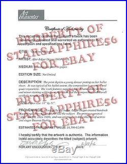 RARE After Edgar DEGAS Mixed-media Print/Paper Circa 1920sDANSEUSE SALUANTCOA