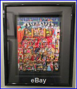 RARE Charles Fazzino Backstage on Broadway 3D Art Signed and Number 12/50 PR