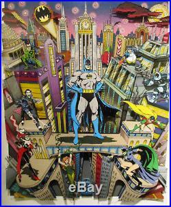 RARE Charles Fazzino Batman The Dark Knight 3-D Art Signed Numbered 62/100 DX
