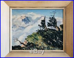 RARE Lyman Byxbe American (1886-1980) Oil On Canvas Colorado Painting 20x16