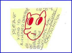 RAY JOHNSON 1983 marking pen ink on paper, original artwork