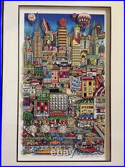 REDUCED Charles Fazzino Signed Moving on Up to Eastside 7/150 Mounted