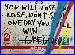REDUCED! Gregory Siff Original Canvas Painting 2011 The Motto