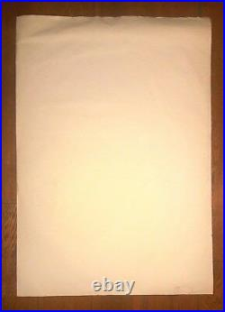 RENE PORTOCARRERO BIG SIZE 39 x 27.5 BEAUTIFUL ART WORK
