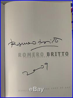 ROMERO BRITTO SCULPTURE MINI PYRAMID HYDE PARK SIGNED Limited Edition & Book