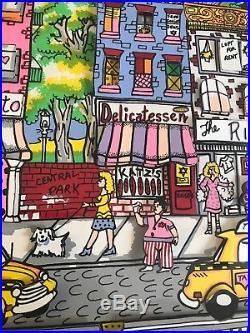 Rare Charles Fazzino AP 3-D New York New York 1987 Limited Edition 81/200